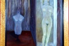 Figuras femeninas Óleo sobre tabla 50x40